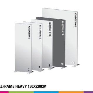 Textielframe heavy 150x220cm. Frame + doek (Prijs 4 sets)