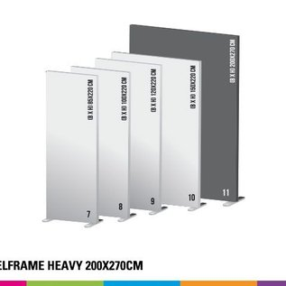 Textielframe heavy 200x270cm. Frame + doek (Prijs 4 sets)