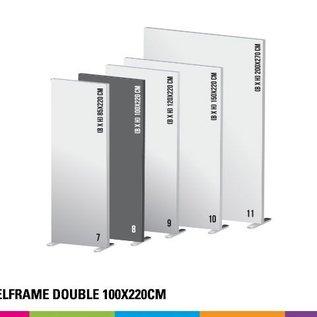 Textielframe simple 100x220cm. Frame + doek (Prijs 4 sets)