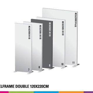 Textielframe simple 120x220cm. Frame + doek (Prijs 4 sets)