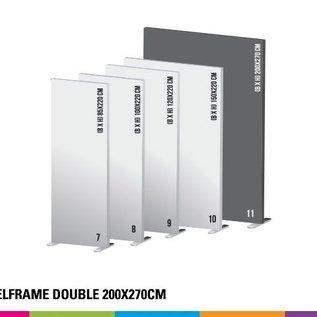 Textielframe simple 200x270cm. Frame + doek (Prijs 4 sets)