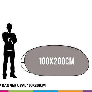 Popup banner ovaal 100 x 200 cm (HxB) Prijs voor 4 stuks