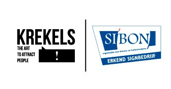 "KREKELS krijgt keurmerk ""erkend signbedrijf"" van si'bon"