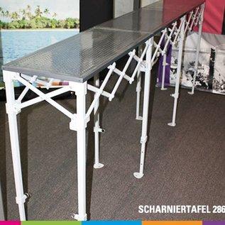 Hinge table 286x40cm