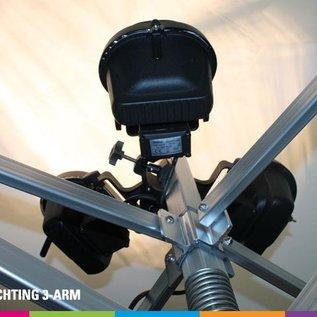 Verlichting 3-arm voor vouwtent (3x160W)