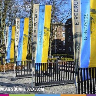 Flag Square 385 x 65 cm alu mast 25mm