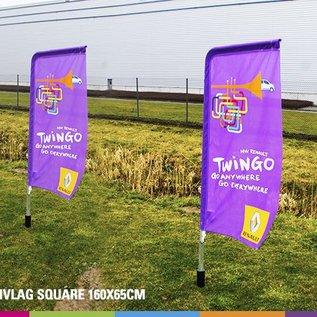 Flag Square 160 x 65 cm alu mast 25 mm