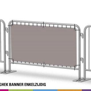Dranghek banner enkelzijdig (Stukprijs voor 4 stuks)
