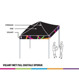 2x2M TENT - ONLY VALANCE PRINTED