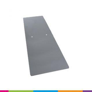 Voetplaat heavy (450x150x3mm) bevestiging onderaan frame