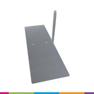 Voetplaat heavy (450x150x3mm) bevestiging zijkant van frame