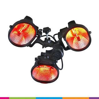 Verlichting 3-arm voor vouwtent (3x500W)