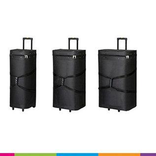 Carry bag  - Case - 53x30x85cm binnemaat - zwart met wielen en uitschuifbare greep