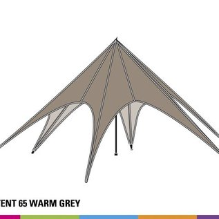 Startent 65 (16M diam) - Warm grey - Velcro