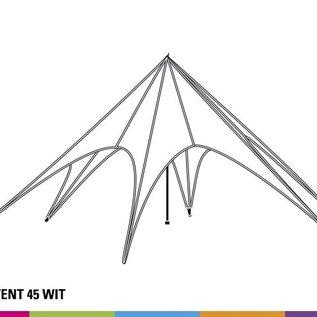 Startent 45 (14M diam) - Wit - Uit voorraad