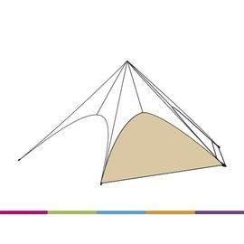 Zijwand Startent - Zandkleur (p468) - ST40 (13M) - KR (Velcro)