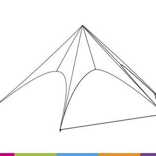Zijwand Startent - Wit - ST80 (17M) - KR (Velcro)