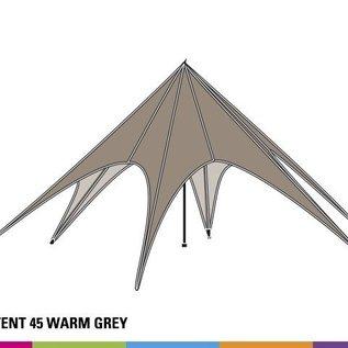Zijwand Startent - Warm grey - ST45 (14M) - KR (Velcro)