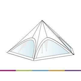 Zijwand Startent - Panoramavenster - Wit ST60 (65M) KR (Velcro)