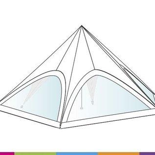 Sidewall startent - Panorama window - Wit ST60 (65M) KR (Velcro)