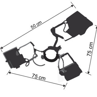 Lighting Tent Startent - 3X400W + clamp for pole