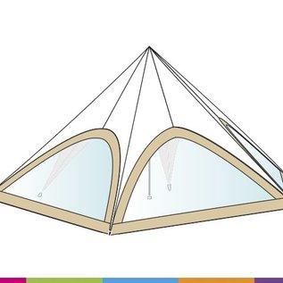 Sidewall startent - Panorama window  - Sand (p468)- ST80 (17M)- KR (Velcro)