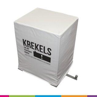 Hoes voor metalen kooi - 60x50x75cm - wit