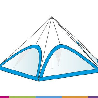 Sidewall startent - Panorama window  - Standard color - ST40 (13M)- KR (Velcro)