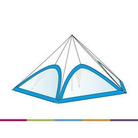 Zijwand Startent - Panoramavenster - Standaard kleur - ST80 (17M)- KR (Velcro)