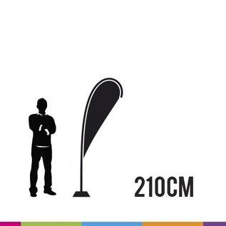 Flag drop 210cm - strong fiber mast