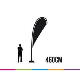 Vlag drop 460 cm strong fiber mast