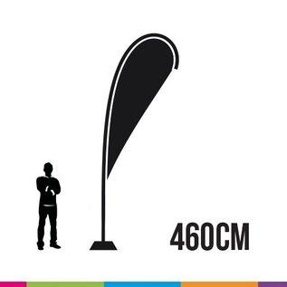 Beachvlag drop 460 cm + mast fiber