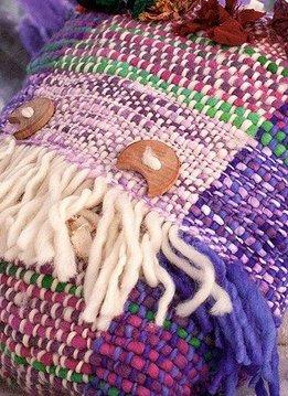 Ivette Sauterel Hand weaven Pillow, 100% Wool, Ivette Sauterel Collection
