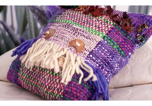 Ivette Sauterel Cojin tejido a telar, 100% lana, Ivette Sauterel Collection