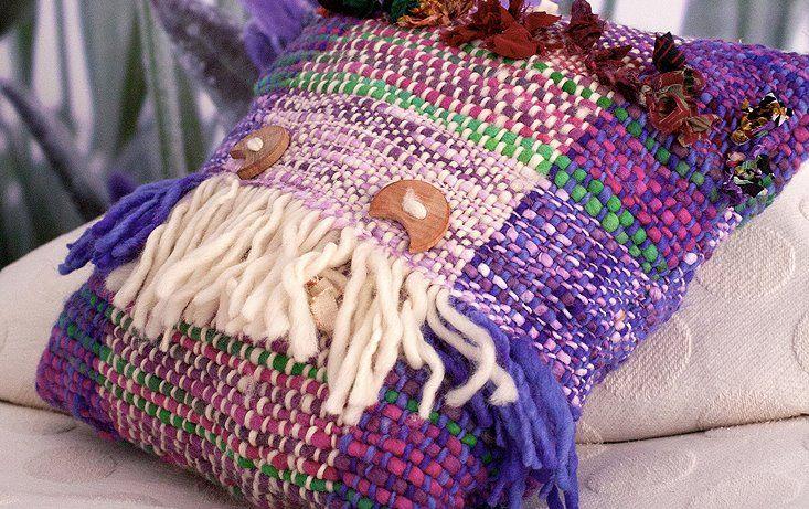 Ivette Sauterel Kissen Wolle Handgewebt, Ivette Sauterel Collection