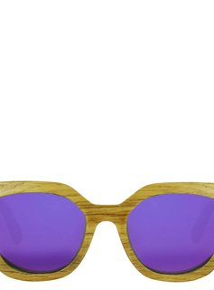 Flor Amazona Flor Amazona Gafas de Sol de madera Victoria Purpura