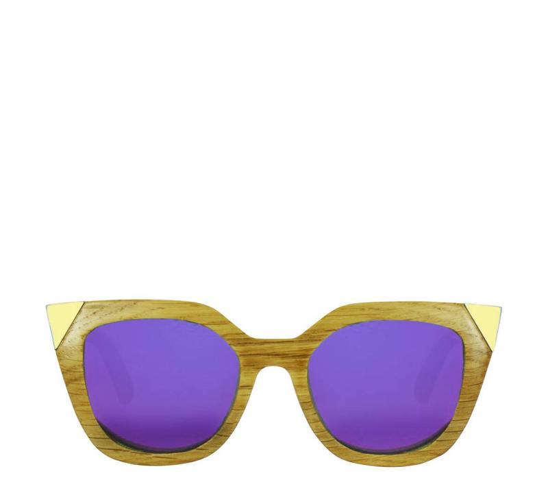 Holz Sonnenbrille Flor Amazona, Victoria Purpura