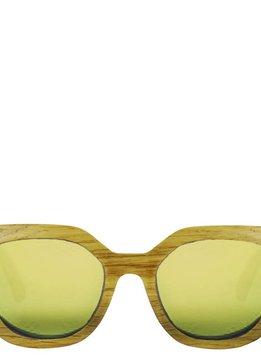Flor Amazona Holz Sonnenbrille Flor Amazona, Gold