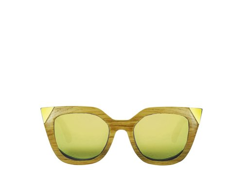 Flor Amazona Wood Sunglasses Flor Amazona Gold