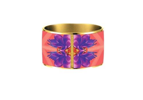 Flor Amazona Armband Flor Amazona, Ruby Love vergoldet 24 Kt