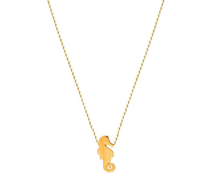 Collier Flor Amazona, Seahorse Gold