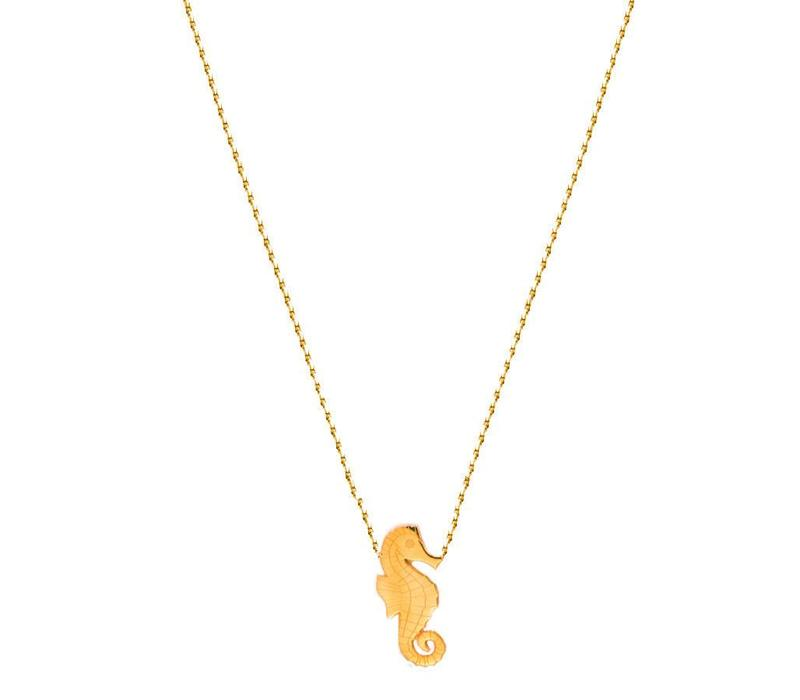 Necklace Flor Amazona, Seahorse Gold