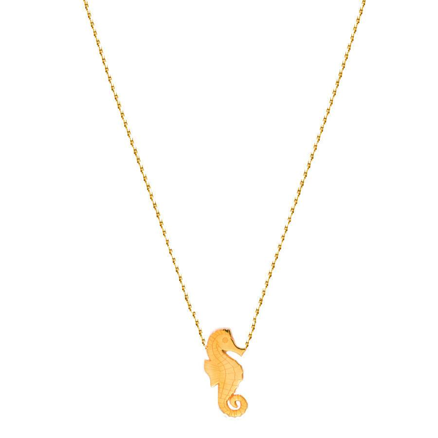 Flor Amazona Necklace Flor Amazona, Seahorse Gold