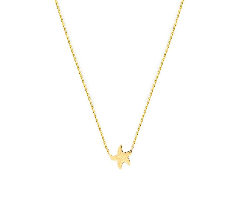Necklace Flor Amazona, Sea Star Gold