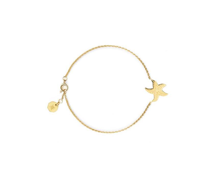 Armband Flor Amazona, Starfish Gold