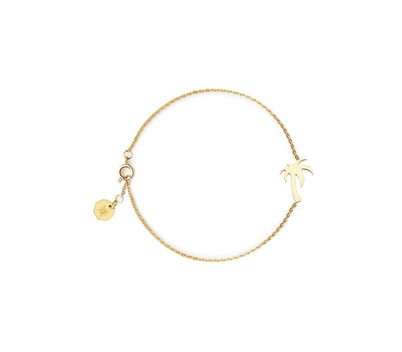 Armband Flor Amazona, Palm Tree Gold