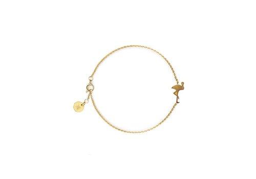 Flor Amazona Armband Flor Amazona, Flamingo Gold