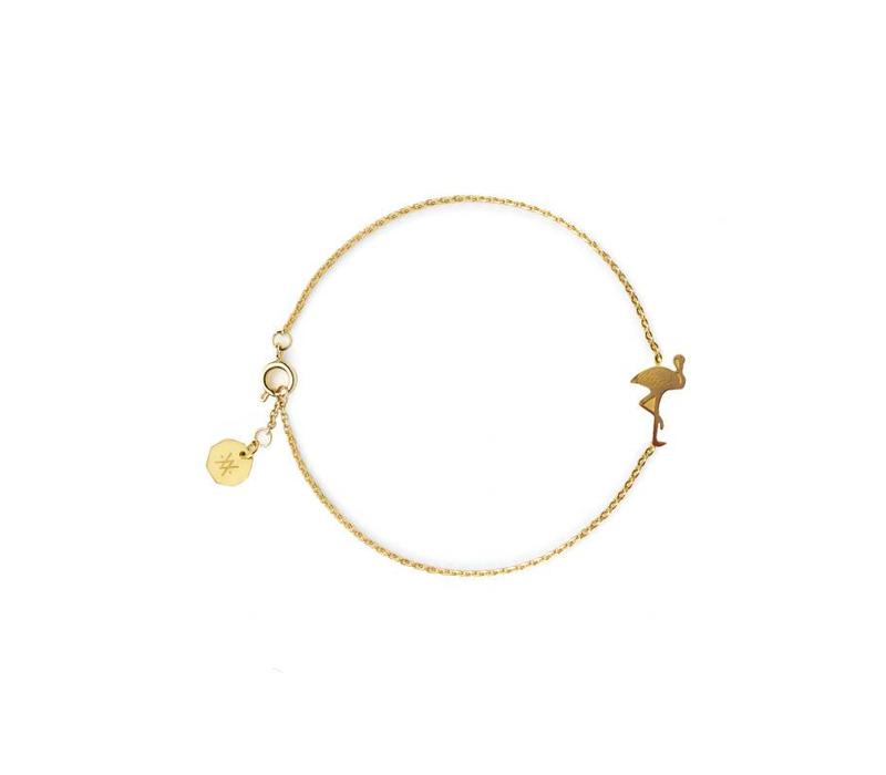 Bracelet Flor Amazona, Flamingo Gold