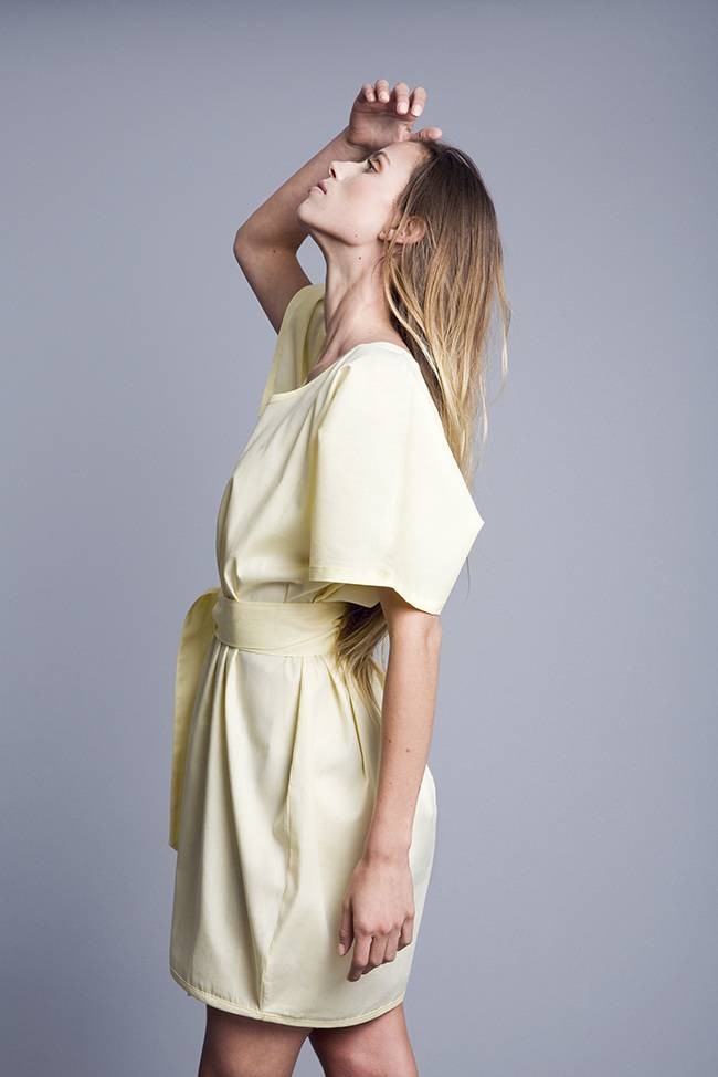 Volver Dress, 100% Cotton, Yellow, handmade, Volver - Copy