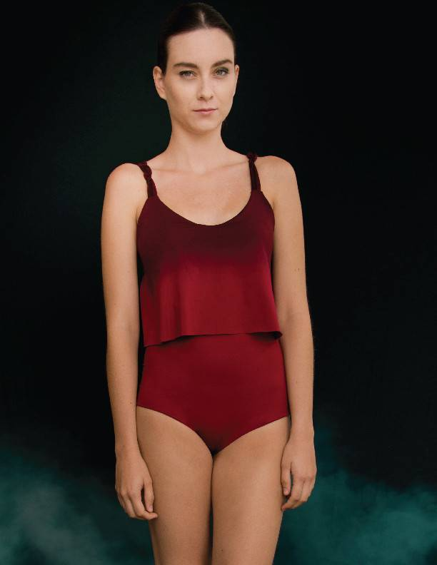 Entreaguas Bodysuit Entreaguas, Oxblood Spins